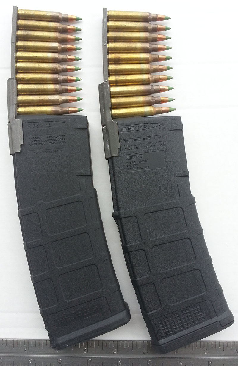 PMAG M2 vs M3 AR-15 Stripper Clip Guide M855