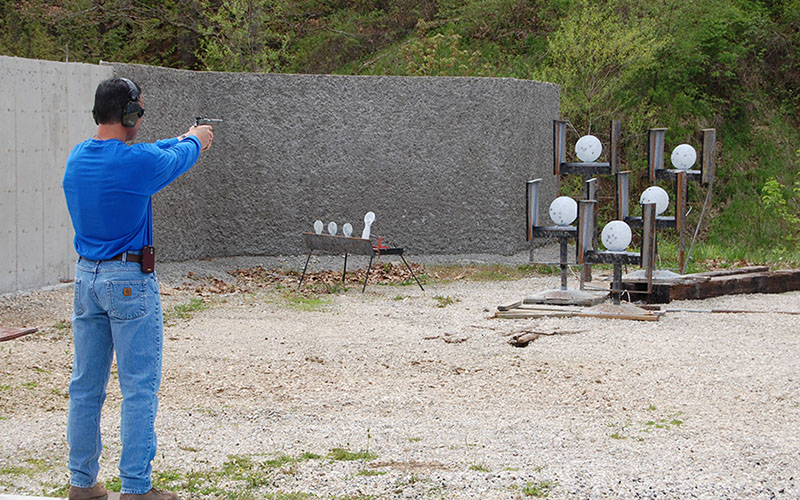 Plinking doesn't require formal set ups. As long as the course can be easily replicated for future range sessions, improvement can be noted. Shoot offs are a great way to inspire any shooter to take their shooting more seriously.