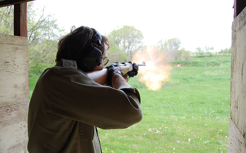 More noise equals more fun... sometimes. Combined with a simple, fun course of fire (and occasional ball and dummy flinch checks) dangerous game rifles can be used for plinking too.