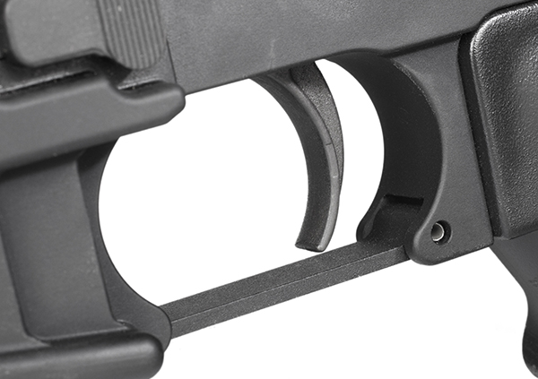 The carbine comes with a trigger that's pretty much stock for an AR-15, but it's let-off weight is a smooth and consistent five pounds, and the palpable reset makes accurate follow-up shots quick and easy.