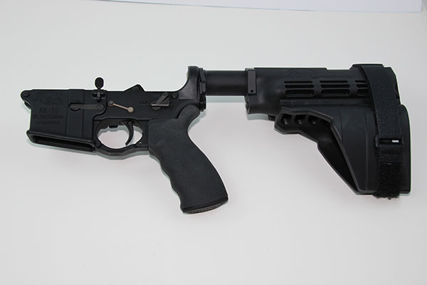 AR Pistol Lower with Arm Brace