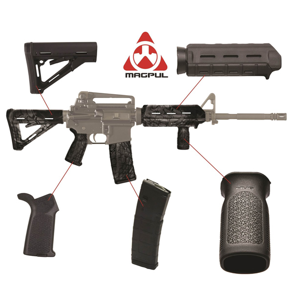 Magpul-AR-15-Carbine-Furniture-Upgrade-Kit-Black